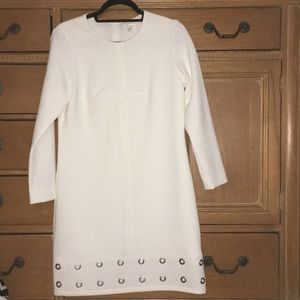 Shoshanna White Long Sleeve Dress
